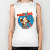 donkey kong Biker Tanks featuring Donkey King Kong by Vickn