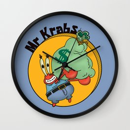 Mr Krabs Rich Wall Clock