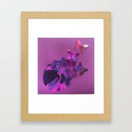 Garden Circles - Purple Framed Art Print