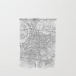 Taipei White Map Wall Hanging