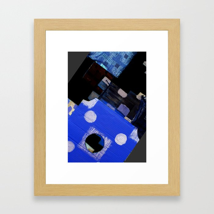blueshape1 Framed Art Print