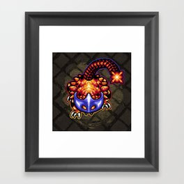 King Helmasaur Framed Art Print
