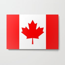 The National Flag of Canada, Authentic color and 3:5 scale version  Metal Print
