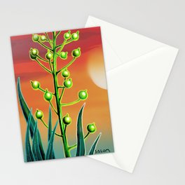Wild plant at sunset Stationery Cards