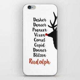 Santa's Christmas Reindeer iPhone Skin