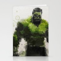 water colour Stationery Cards featuring Water Colour Hulk by Scofield Designs