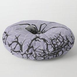 Briar Web - Gray Floor Pillow