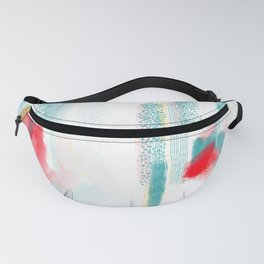 Sugar Mountain Wide White Fanny Pack