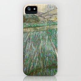 Vincent Van Gogh Wheat Field In Rain iPhone Case