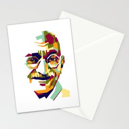 Mahatma Gandhi in colorful popart style Stationery Cards