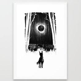 Barghest Black Dog of Yorkshire Dales Framed Art Print