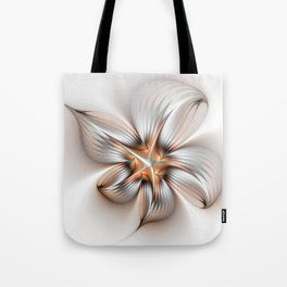 Elegance of a Flower, modern Fractal Art Tote Bag