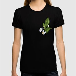 Citrus Flower Pattern with Spring Flowers and Leaves T-shirt