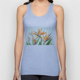 bird of paradise flower painting Unisex Tank Top