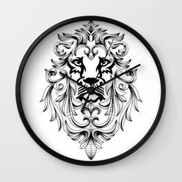 Heraldic Lion Head Wall Clock