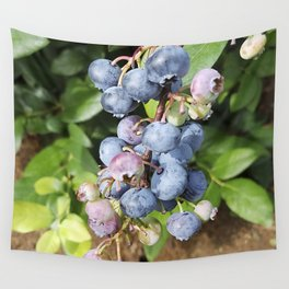 Ready to pick blueberries? Wall Tapestry