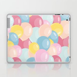Happy birthday party balloons Laptop & iPad Skin