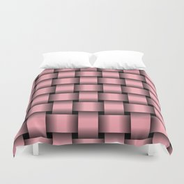 Large Pink Weave Duvet Cover