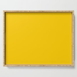 Orange Yellow Solid Color Serving Tray