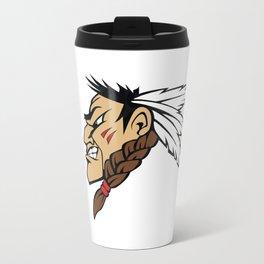 American indian man. Mascot. Kentucky. Metal Travel Mug