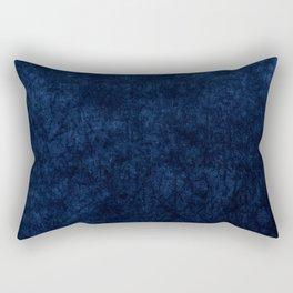 Royal Blue Velvet Texture Rectangular Pillow