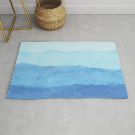 Ombre Waves in Blue Rug