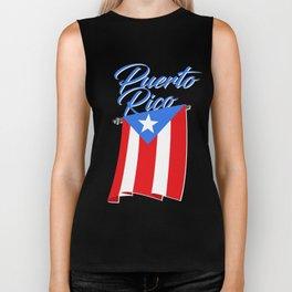 Big Puerto Rico Flag Biker Tank
