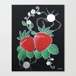 Moonlit Strawberries Canvas Print