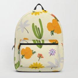 California Wildflower Pattern Backpack