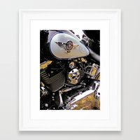 motorbike Framed Art Prints featuring  Motorbike  by Scenic View Photography