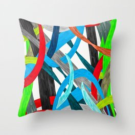 Abstract Carnival  Throw Pillow