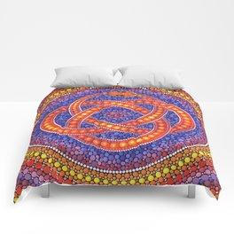 Red Celtic Snake Comforters
