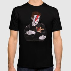 David & The cat Black Mens Fitted Tee X-LARGE