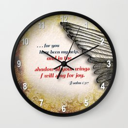 The Shadow of Your Wings Wall Clock