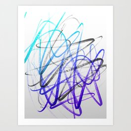 Expressive and Spontaneous Abstract Marker Art Print
