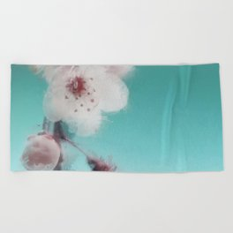 Cherry Blossom Abstract Beach Towel