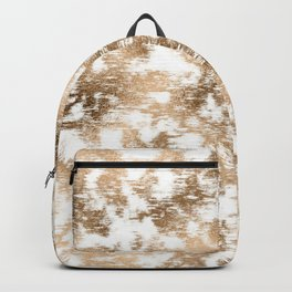 scrubbed bronze white marble Backpack