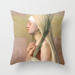Saint Thecla Catholic Religious Art Throw Pillow