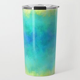 Sunflower and Ice Abstract Travel Mug