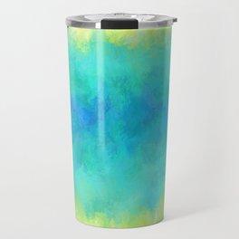 Sunflower and Ice Abstract Travel Mug
