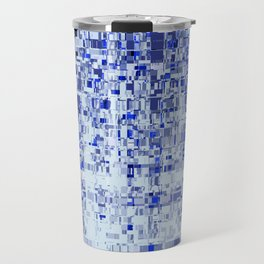 Abstract Architecture Blue Travel Mug