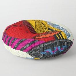 body in Abstraction Floor Pillow