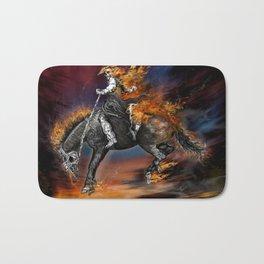 Texas Ghost Rider Bath Mat