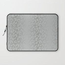 White Silver Leopard Print Laptop Sleeve