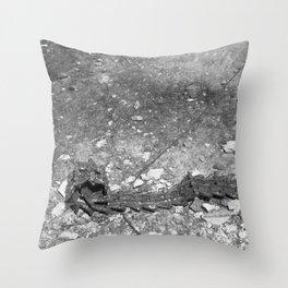 Rust excavator tracks Throw Pillow