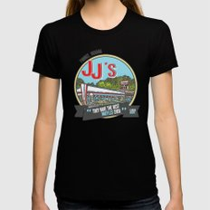 jj's diner, pawnee, indiana SMALL Womens Fitted Tee Black