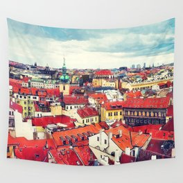 Prague panorame city Wall Tapestry