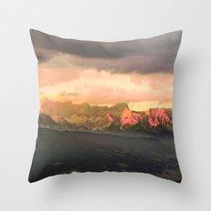 Escaping  -  Mountains - Dachstein, Austria Throw Pillow