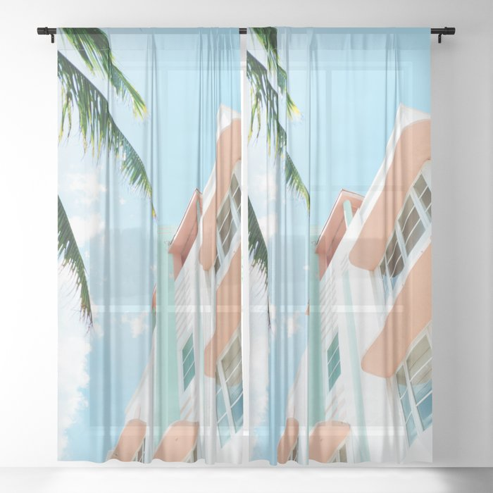 Miami Fresh Summer Day Sheer Curtain