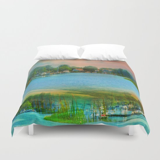 Nature's Magical Sunsets Duvet Cover